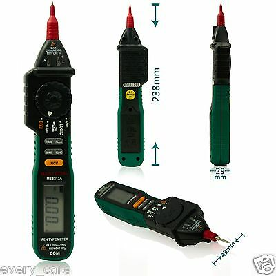 Mastech MS8212A Multimetro Pen type Digital Multimeter Logic and NCV Tester