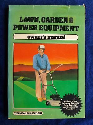 Lawn Garden Power Equipment Owners Manual Vintage 1985 Maintenance Book