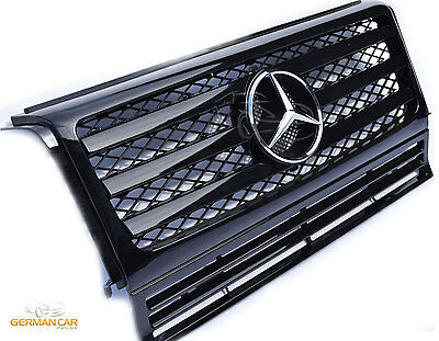 Grille Sport for Mercedes W463 G 1990-2014 Glossy Black AMG LOOK