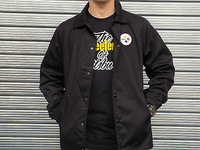 Official Pittsburgh Steelers New Era Coach Jacket