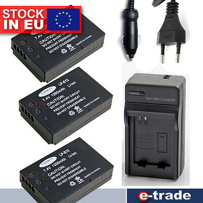 Battery 1200mAh / Charger  For Canon EOS M 100D Rebel SL1 LP-E12 LPE12