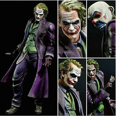 "10"" Square Enix Play Arts Kai Batman Arkham Origins THE JOKER Action Figure NIB"
