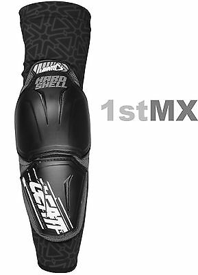 Leatt Hard Shell Elbow Guard Protector Pads Adult Motocross MX Black PAIR S/M