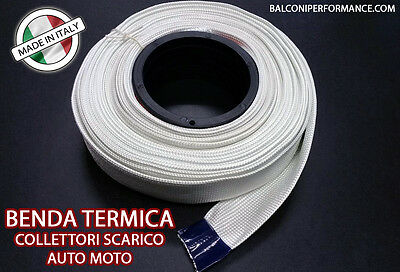 BENDA TERMICA ISOLANTE COLLETTORI SCARICO AUTO MOTO MADE IN ITALY 10m 40 mm