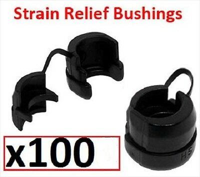 Box Of 100  Strain Relief Bushings Wire / Electrical - Srb-9R1