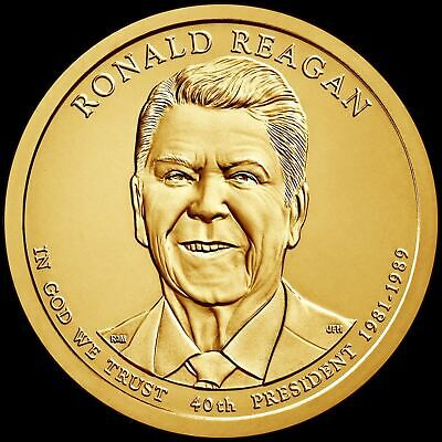 "2016 P Ronald Reagan Presidential Dollar ""BU"" Coin US Mint"