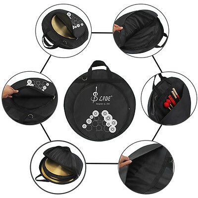New LADE Brand Oxford Cloth Carrying  Round Waterproof Cymbal Bag Case Black