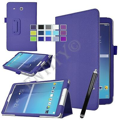 """PU Leather Flip Stand Case Cover For Samsung Galaxy Tab E 9.6"""" T560 T561 - UK"""