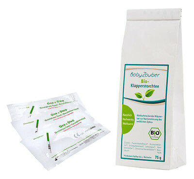 BIO BabyZauber-Tee Klapperstorchtee 75g inkl. 20 Ovulationstests
