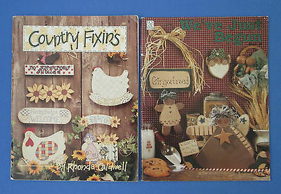 Lot Of Two Books Of Woodworking Folk Art Style Decorative Painting