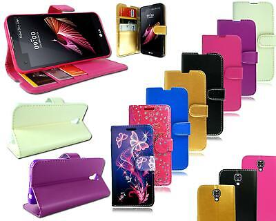 For LG X Screen K500N New Leather Flip Wallet Stand Book Pouch Phone Case Cover
