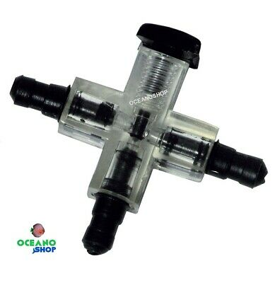 LLAVE 3 VÍAS CON REGULADOR ELITE REGULACION en Tubo de Aire oxigenador co2
