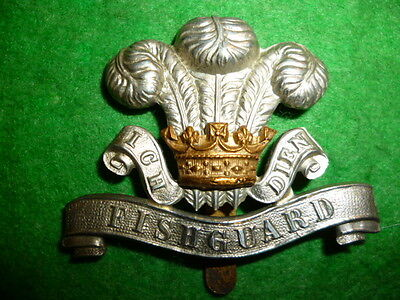 The Pembrokeshire Yeomanry Cap Badge, White Title