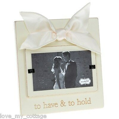 Hanging Wedding Photo Frame Day Picture Cream Wooden To Have and to Hold Gift