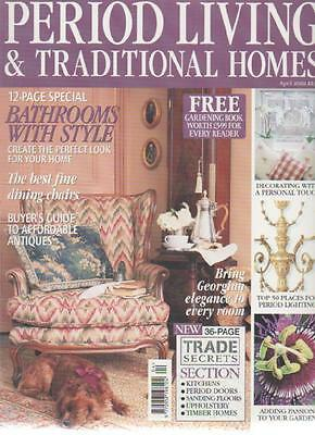 PERIOD LIVING & TRADITIONAL HOMES MAGAZINE April 2002 Fine Dining Chairs AL