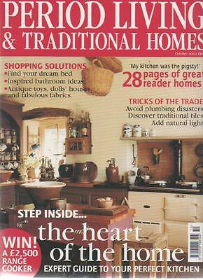 PERIOD LIVING & TRADITIONAL HOMES MAGAZINE October 2002 Perfect Kitchen AL