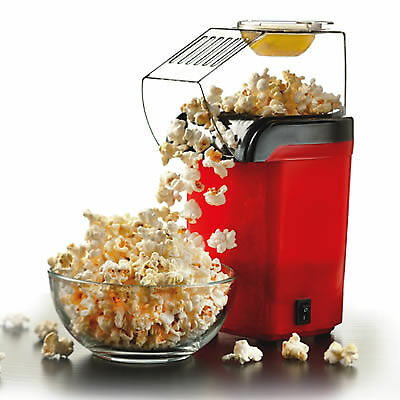 Hot Air Table Top Electric Pop Corn Maker Machine With Butter Dispenser Red