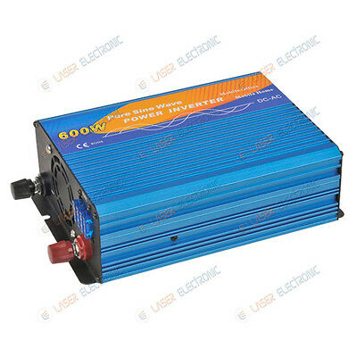 Power Inverter da 12V Batteria a> 220 Volt Alternata Onda Pura 600W Reali