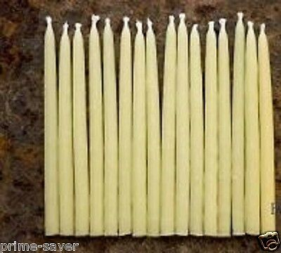 """2 x Beeswax Candles 11"""" Handmade Tapers (made in CANADA)Burns more than 2 h."""