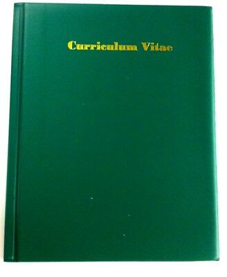 PVC LEATHERETTE A4CURRICULUM VITAE IN MID GREEN new product
