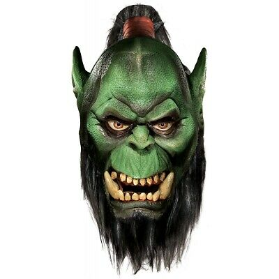 Deluxe Orc Mask with Beard World of Warcraft Adult WOW Halloween Costume Acsry