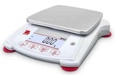 Ohaus SPX2201 Lab Balance,Compact Gold Portable Scale,2200gX0.1g, AC Adapter,New
