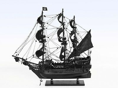 New Black Pearl Caribbean Pirate Wooden Model Tall Ship Boat Gift 45Cm