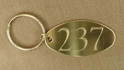 """Room 237 The Overlook Hotel Oval Brass, 2 sided KeyTag , Key Chain, """"The Shining"""