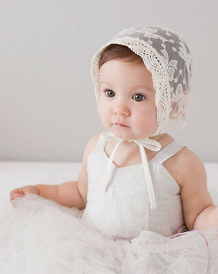 Girl Infant Baby Newborn Kids Lace See-through Hat Cap Beanie Bonnet Accessories