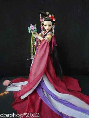 New Chinese Costume Super Beauty Doll Large Chest Joint Body with Suit for Gifts