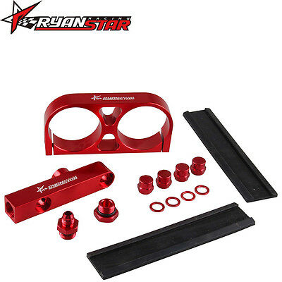Ryanstar Billet Twin Dual Double 044 Fuel Pump Manifold & Mounting Bracket