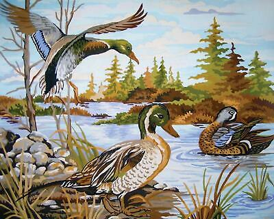 Grafitec Printed Tapestry/Needlepoint Canvas – Mallards (colverts)