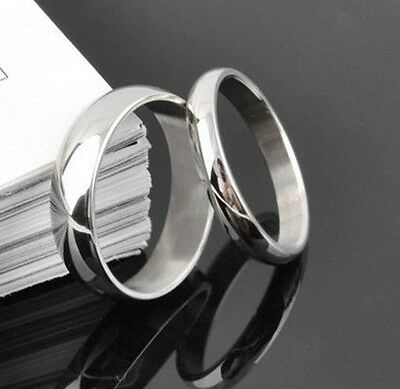 24 OF 4mm / 6mm  polish ring stainless steel rings fashion rings lots wholesale