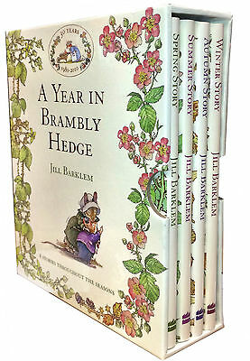 A Year in Brambly Hedge 4 Books Box Set by Jill Barklem Spring, Winter, Summer