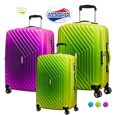 American Tourister Air Force 4 Wheel Spinner Luggage Suitcase Gradient