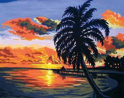 Grafitec Printed Tapestry/Needlepoint Canvas – Tropical Sunset