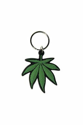 Cannabis Leaf Weed Pot Image Picture Logo Rubber Keyring Keychain Official
