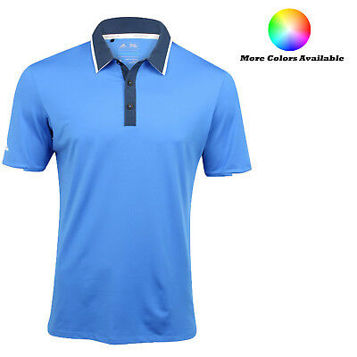 New 2016 Adidas Golf ClimaCool Tipped Performance Polo Shirt