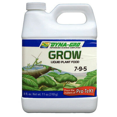Dyna Gro Grow 7-9-5 8 oz. Liquid Plant Food Fertilizer Hydroponics Bloom