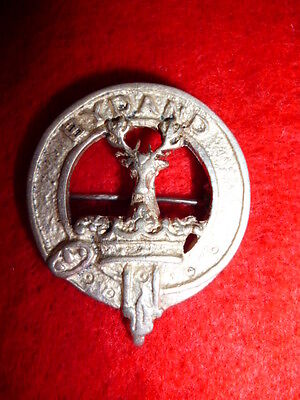 Gordon Highlanders Silver Sweetheart Pin, Hallmarked