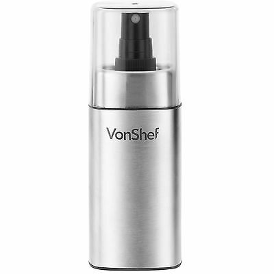 VonShef Oil and Vinegar Sprayer Stainless Steel Case Bottle Dressing Spray 125ml