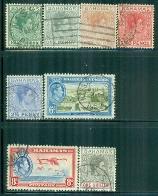 BAHAMAS 100-01A SG149,150-50A Used 1938-46 KGVI short set of 3 Cat$7