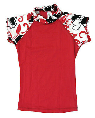 POINT CONCEPTION WOMAN/'S JR  RASH GUARD RED WHITE ARE  RS20 NWT