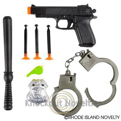 8 Piece Police Set Fun Toy For Kids Novelty Gift Item