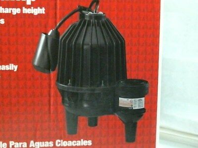 ACE 44855 Submersible Sewage Ejector Pump 1/2 HP, FREE SHIPPING