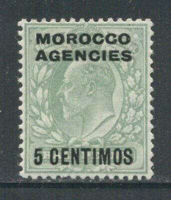 MOROCCO AGENCIES Sc34 SG112 MH 1907-10 5c on 1/2p KEVII SCV$9