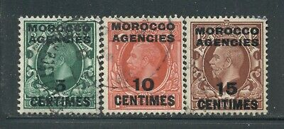 MOROCCO AGENCIES 426-28 SG216-18 Used 1935-37 KGV short set of 3 to 15c Cat$12