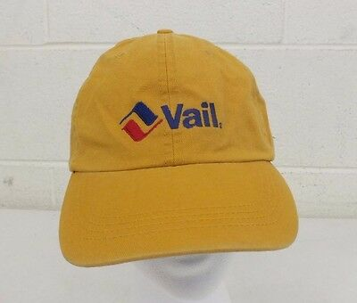 3f333301f Vail Mountain Resort Yellow 100% Cotton Adjustable Size Baseball Cap NEW