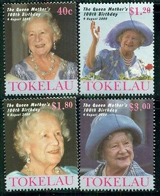 TOKELAU Sc284-87 SG310-13 Used 2000 Queen Mother 100th Birthday set of 4 SCV$9