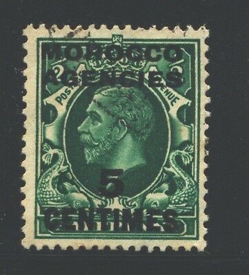 MOROCCO AGENCIES 426 SG216 Used 1935-37 5c on 1/2p KGV Cat$6